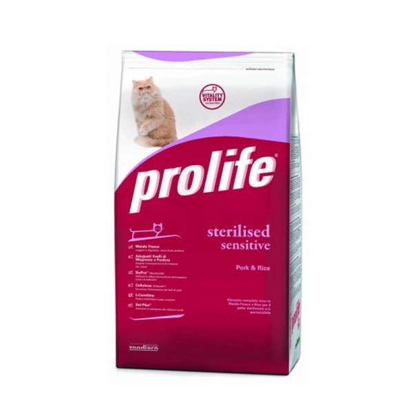 Prolife Sterilised/Sensitive Maiale e Riso 400g